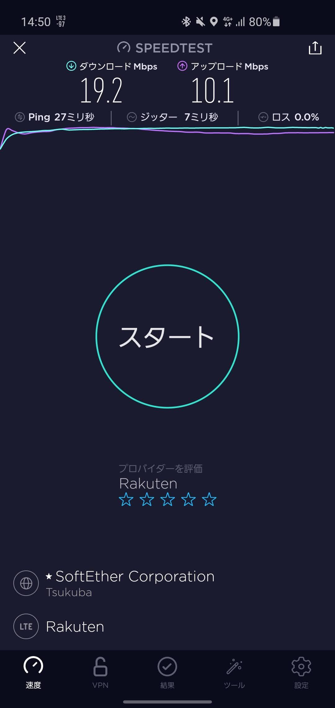 東京メトロ日比谷線の一部区間で楽天モバイルの電波を捕捉